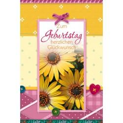 Faltkarte Geburtstag Sonnenblumen