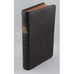 Pocketbibel, Ziegenleder (dunkelbraun), Rotgoldschnitt