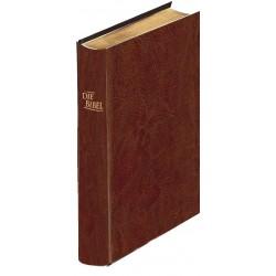 Schreibrandbibel kleinere Ausgabe, Kunstleder braun