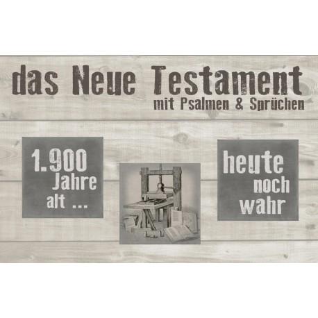 Das Neue Testament mit Psalmen und Sprüchen (Querlieger)