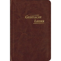 Geistliche Lieder, Kunstleder, PU braun - groß