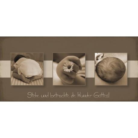 Postkarte zur Geburt - Wunder Gottes