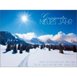 Postkarte zum Neuen Jahr - Winterlandchaft