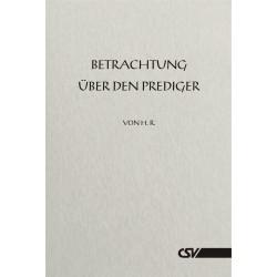 Betrachtung über Prediger (kostenloses E-Book)