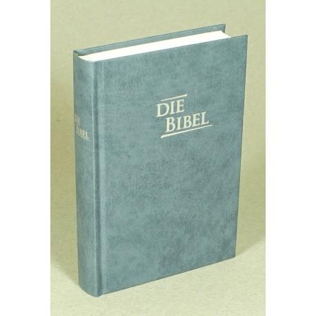 Pocketbibel, Hardcover, Baladek, grau-blau