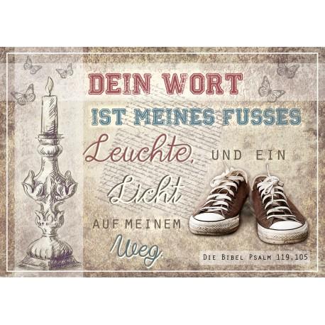 Postkarte - Dein Wort ist meines Fusses Leuchte