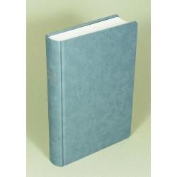 Schreibrandbibel, größere Ausgabe, Hardcover, grau-blau