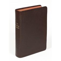 Taschenbibel, größere Ausgabe, Ziegenleder, braun, Rotgoldschnit