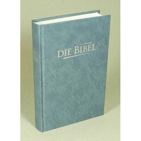 Taschenbibel, größere Ausgabe, grau-blau