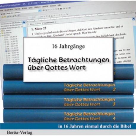 Tägliche Betrachtungen über Gottes Wort (CD-ROM)