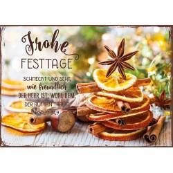 Postkarte Frohe Festtage - Schmeckt und seht