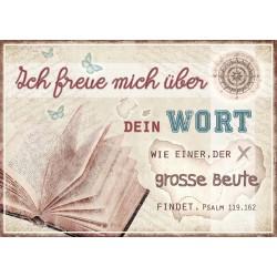 Postkarte - Ich freue mich über dein Wort