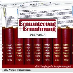 Ermunterung und Ermahnung 1947-2015 (CD-ROM)