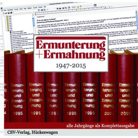 Ermunterung und Ermahnung (CD-ROM)