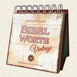 Miniaufstellbuch Bibelworte Vintage