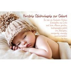 Faltkarte zur Geburt - Du bist ein Gedanke Gottes