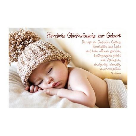 Fabelhaft Faltkarte zur Geburt - Du bist ein Gedanke Gottes YZ43