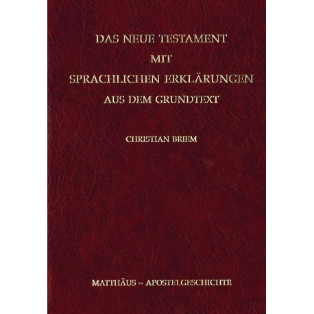 Grammatik zum Neuen Testament