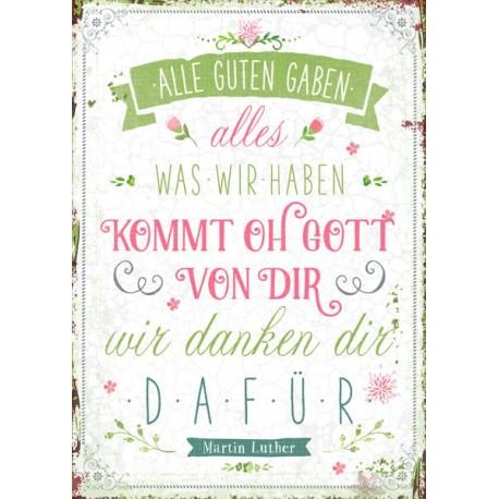 Postkarte - Alle guten Gaben