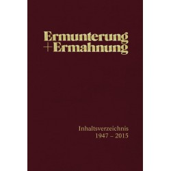Ermunterung und Ermahnung - Index 1947 - 2015
