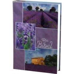 Taschenbibel, größere Ausgabe, Motiv Lavendel