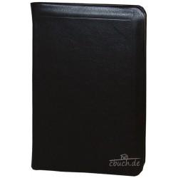 Taschenbibel, kleinere Ausgabe, Leder, Goldschnitt, Schutzklappe