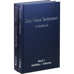 Das Neue Testament in Großdruck (2 Bände)