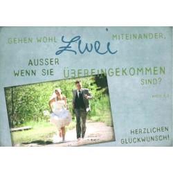 Postkarte zur Hochzeit