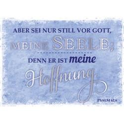 Postkarte - Aber sei nur stille vor Gott...
