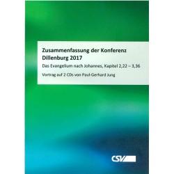 Konferenzzusammenfassung Dillenburg 2017 - CD