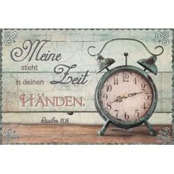 Postkarte Meine Zeit steht in deinen Händen