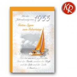 Faltkarte zum Geburtstag mit Jahrgang 1933