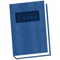 Schweizer Liederbuch Geistliche Lieder - gross blau
