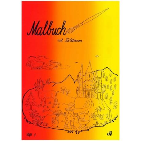 Malbuch mit Bibelversen (Heft 1)