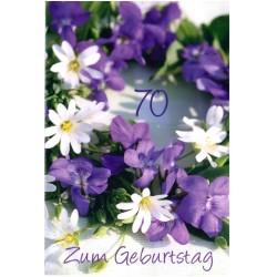 Faltkarte zum 70. Geburtstag - Veilchen