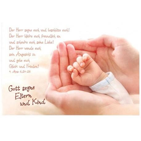 Faltkarte zur Geburt - Hände