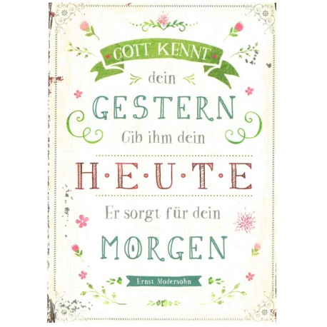 Postkarte - Gott kennt ...