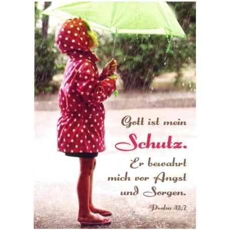 Postkarte - Gott ist mein Schutz