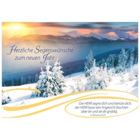 Postkarte zum Neuen Jahr - Bergwelt