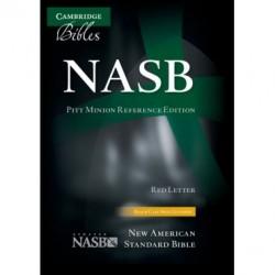 Englische Bibel, Leder, schwarz (NASB)