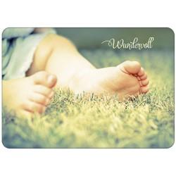 Postkarte zur Geburt - Wundervoll