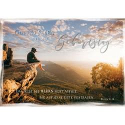 Faltkarte zum Geburtstag - Junge auf Fels