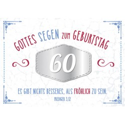 Faltkarte zum 60. Geburtstag - Es gibt nichts besseres