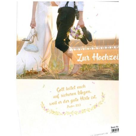Faltkarte zur Hochzeit - Gott leitet