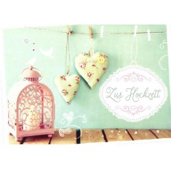 Faltkarte zur Hochzeit - Herzemswünsche