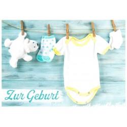 Faltkarte zur Geburt - Vollkommen