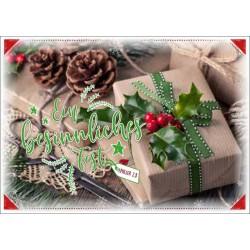 Postkarte zu Weihnachten - Zwei Zapfen