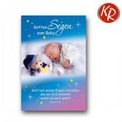 Faltkarte zur Geburt - Schlafendes Baby