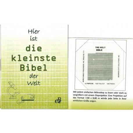 Die kleinste Bibel der Welt