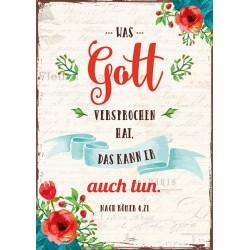 Postkarte - Was Gott versprochen hat